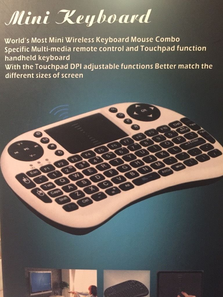 Android TV Box with Mini Keyboard