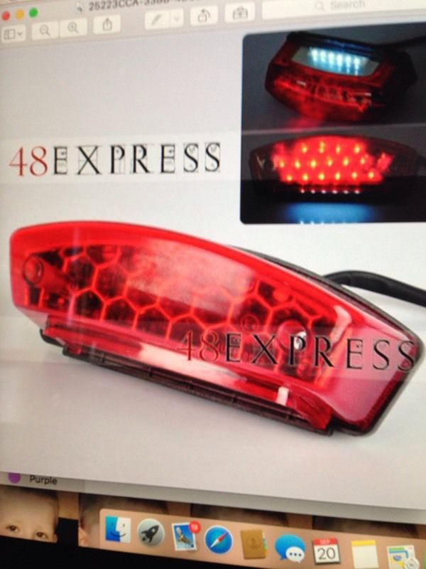 NEW Universal motorcycle 12 volt 23 led rear tail brake stop light number plate light