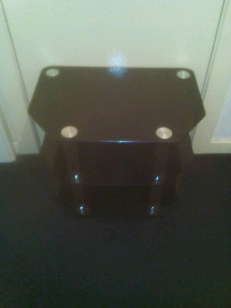 Black glass tv stand greay condition