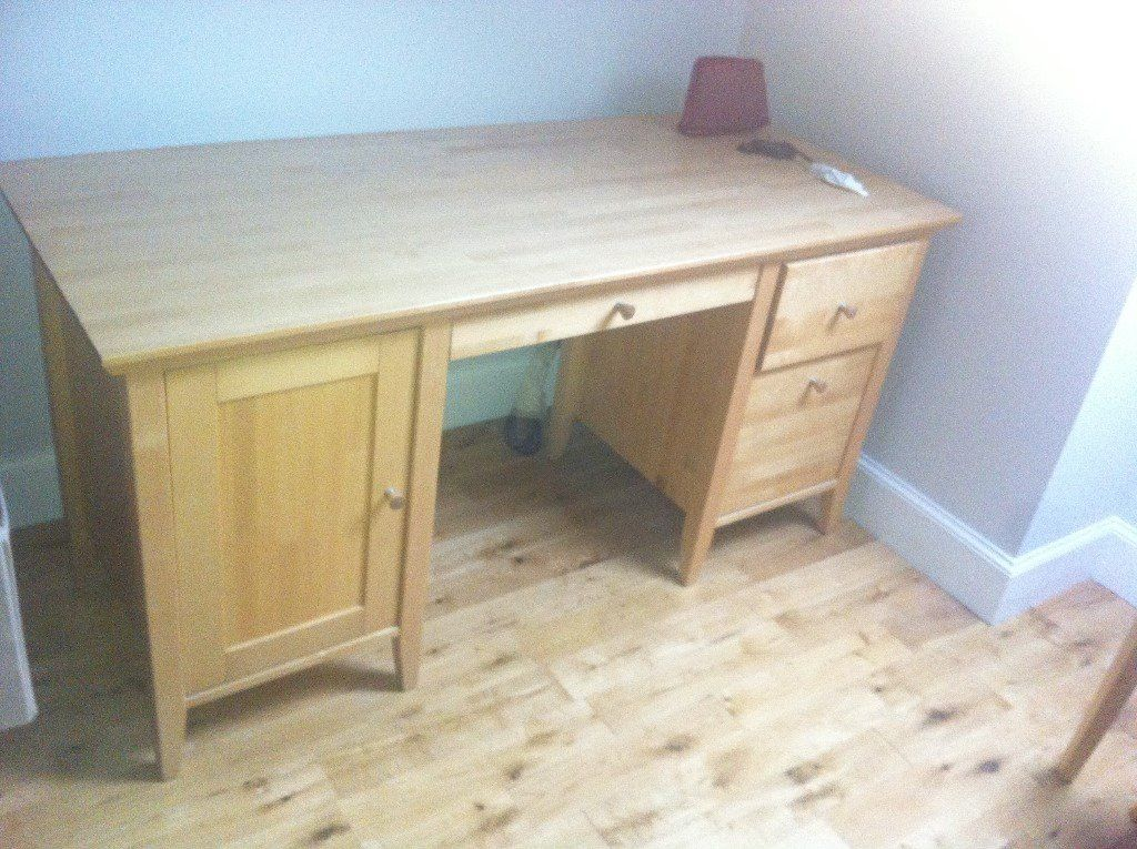 John Lewis wooden dressing table and stool