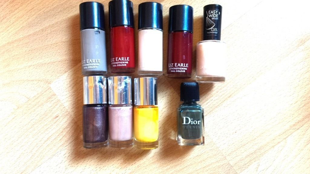 Lot of 9 Nail Polishes - Dior, Clinique, Liz Earle