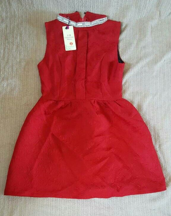 Size 6/8 UK ruby red dress