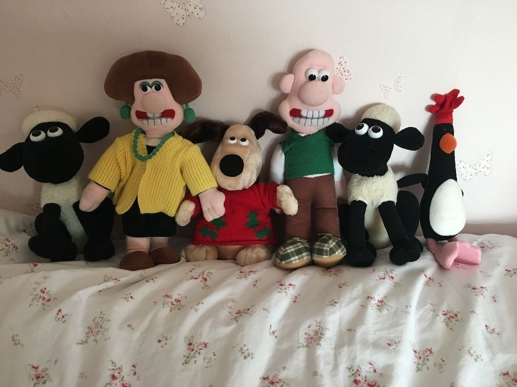 Wallace and gromit Aardman Animation plush bundle from 1989