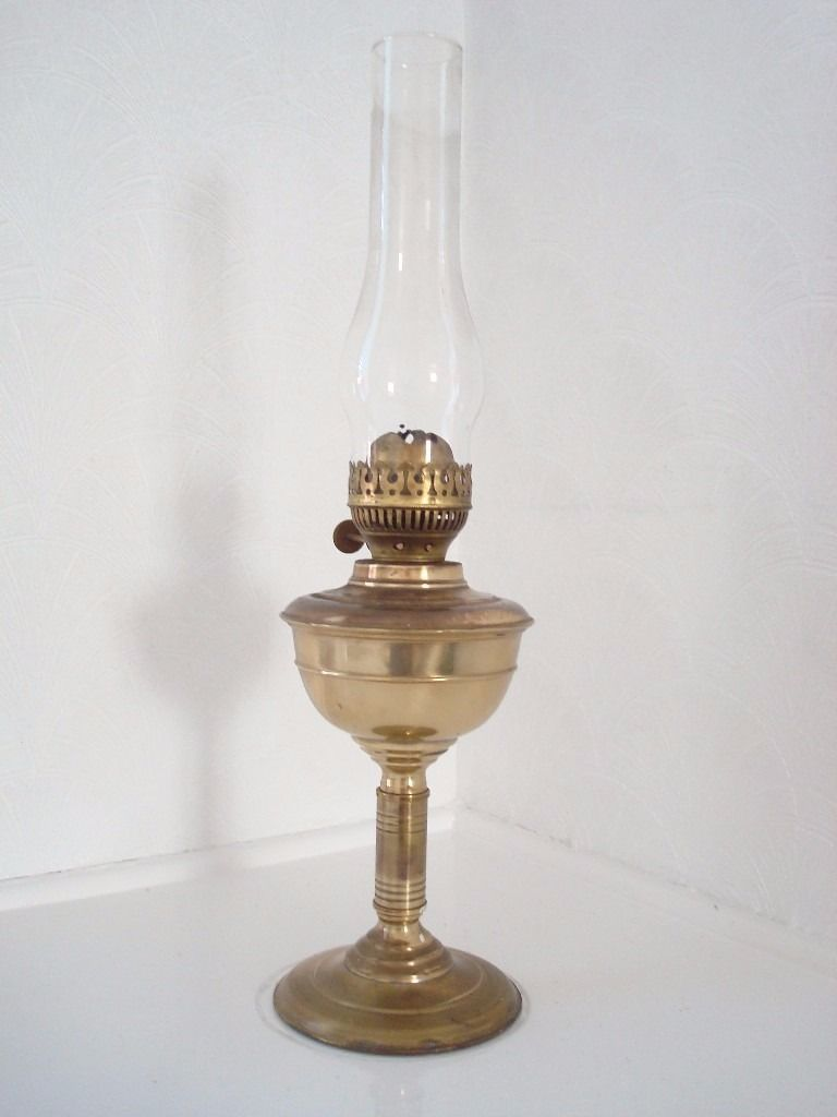 Paraffin Lamp in Brass