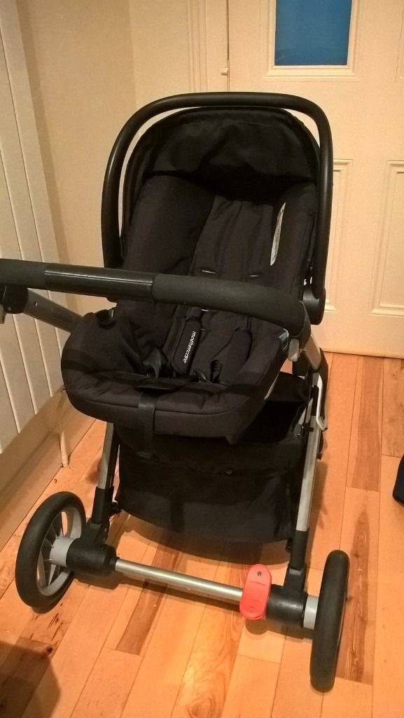 Mothercare Roam Pram & Pushchair Travel System -Blue with isofix