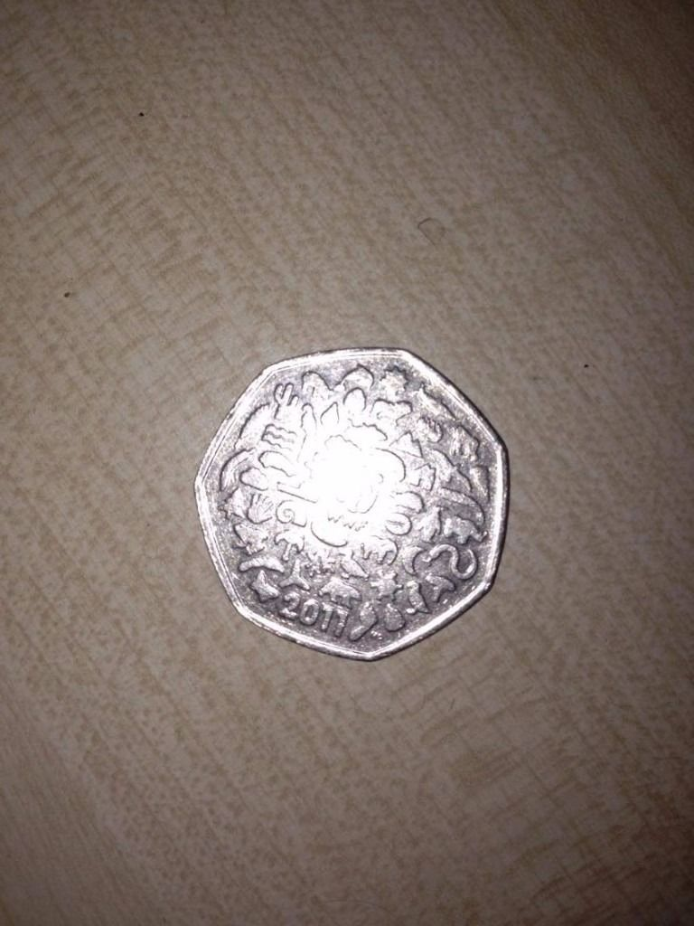 Extremely rare WWF 50 pence