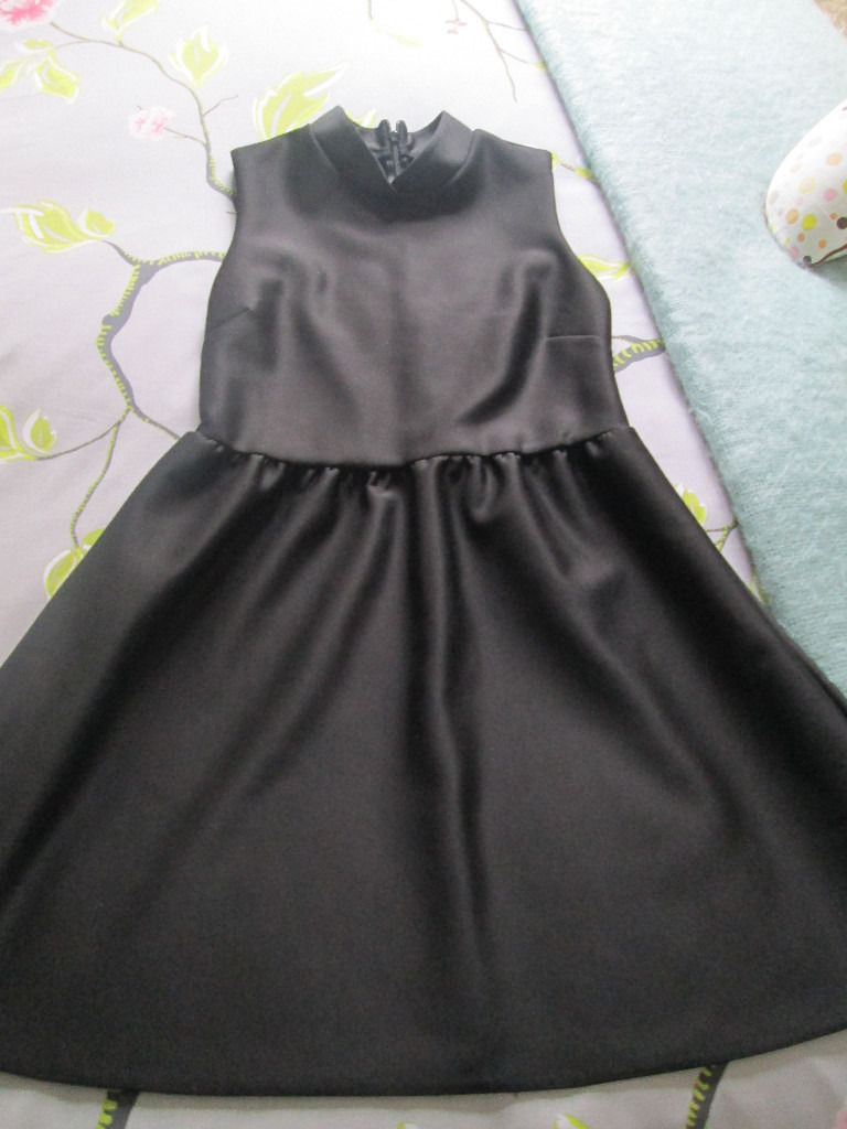 LADIES BLACK DRESS - FROM TOP SHOP - SIZE 10