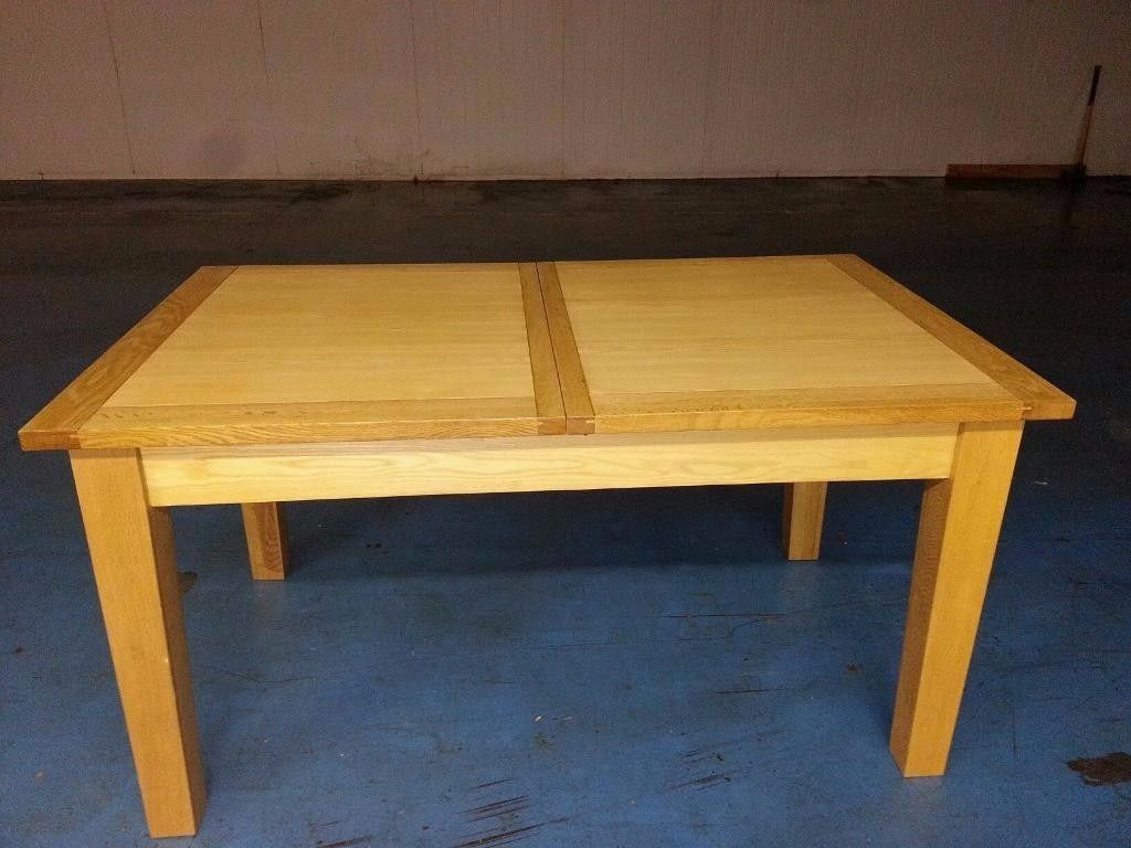 solid oak extendable dining table (item 11)