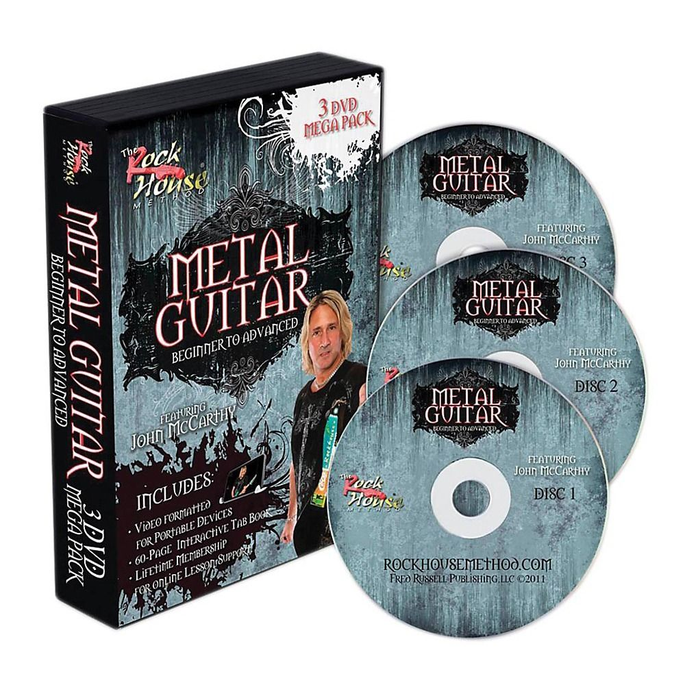 "The Rock House Method ""Metal Guitar 3 DVD Pack With Tab""."