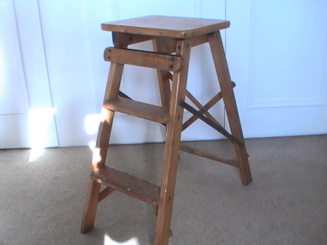 Small wooden step ladders