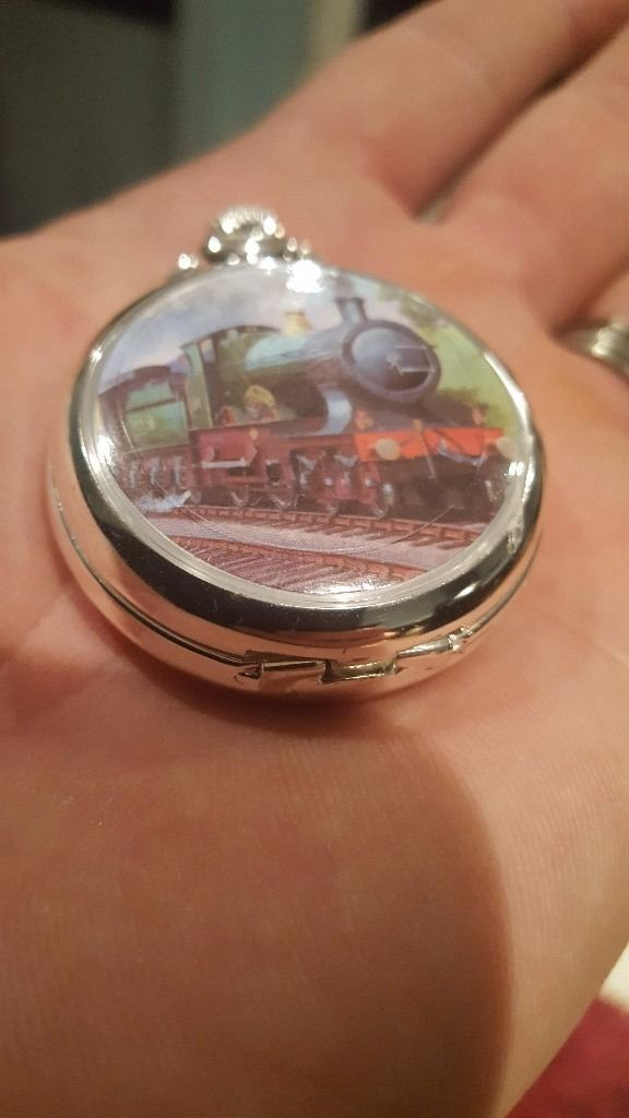 antique train pocket watch (working perfect)