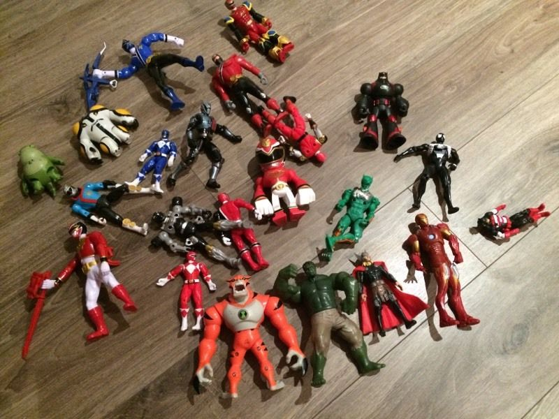 Power Rangers and Superhero Figures.