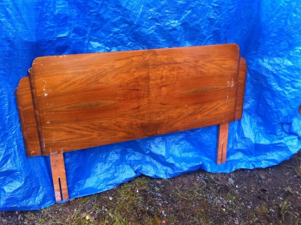 pair of 1920s art deco double bed headboards