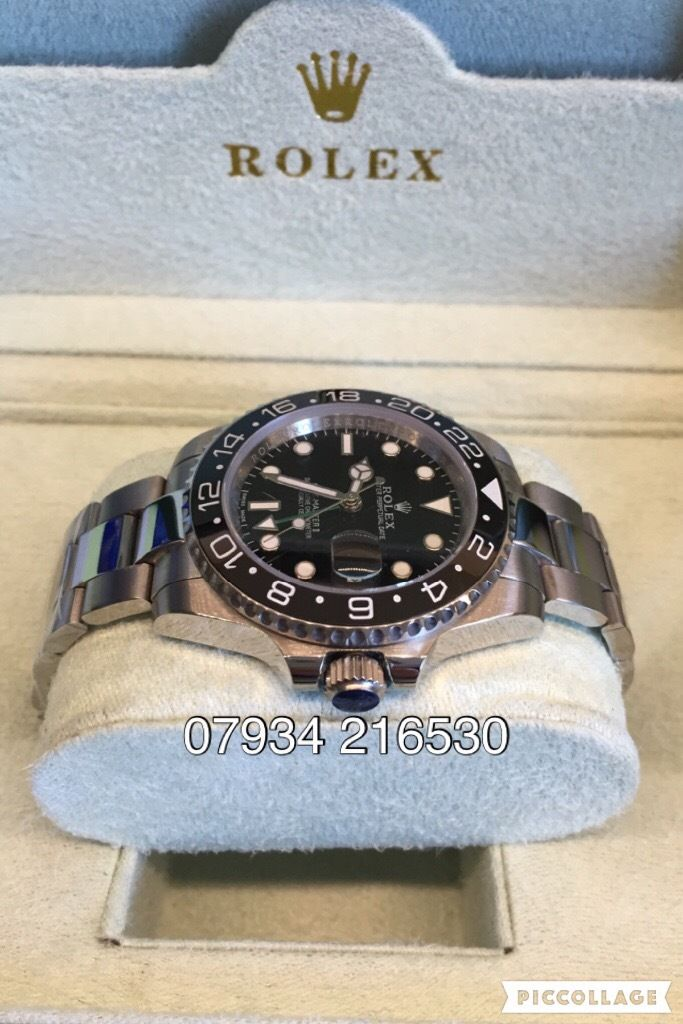 Rolex GMT master 2 luxury automatic aviation watch brand new in Swiss oyster box