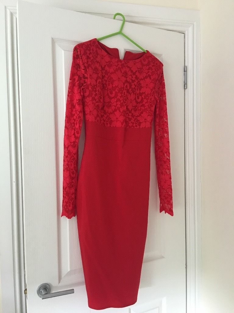 Red lace Amy Childs dress