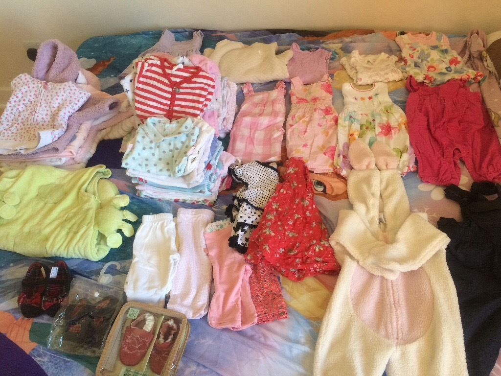 3-6 months Baby girl cloths bundle