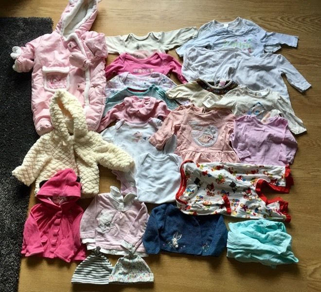 Baby Bundle Silver Cross Pram Baby clothes blankets Pampers Nappies / Wipes