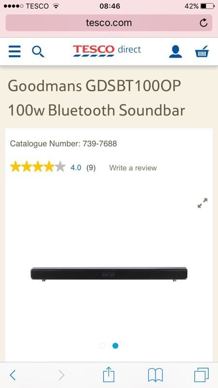 BNIB Goodmans 100w 2.1 soundbar