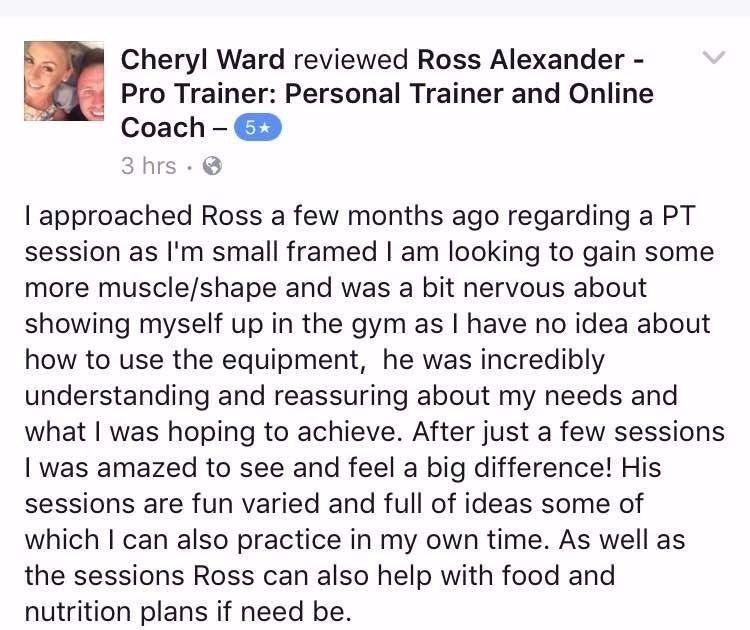 Ross Alexander - Pro Trainer: Personal Trainer and Body Transformation Specialist