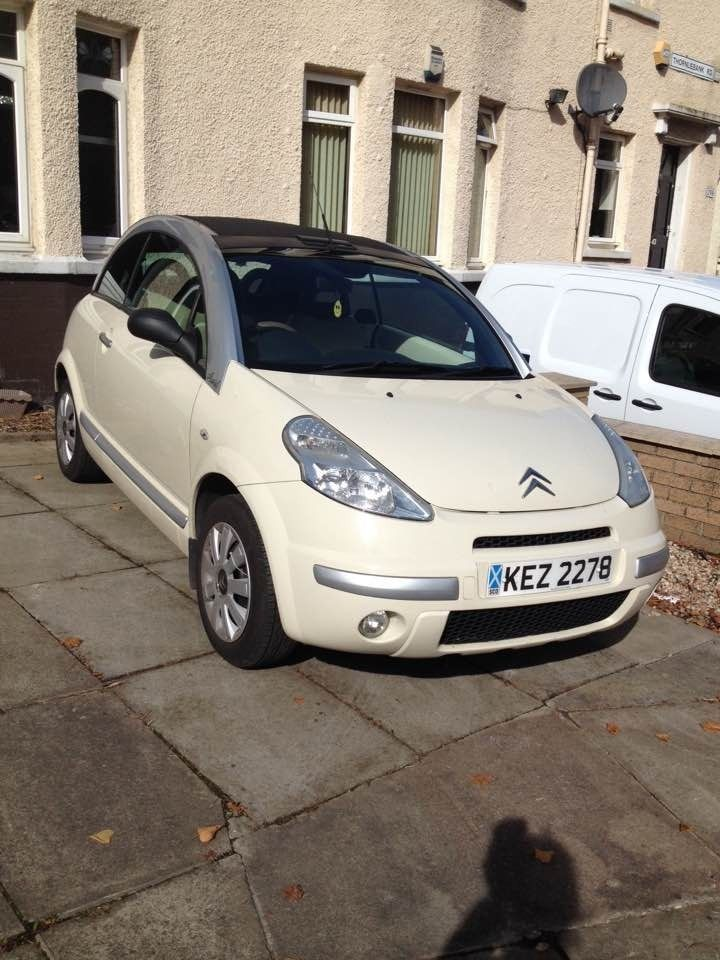 white citroen c3 pluriel exclusive latte 2 lady owners 5 stamps
