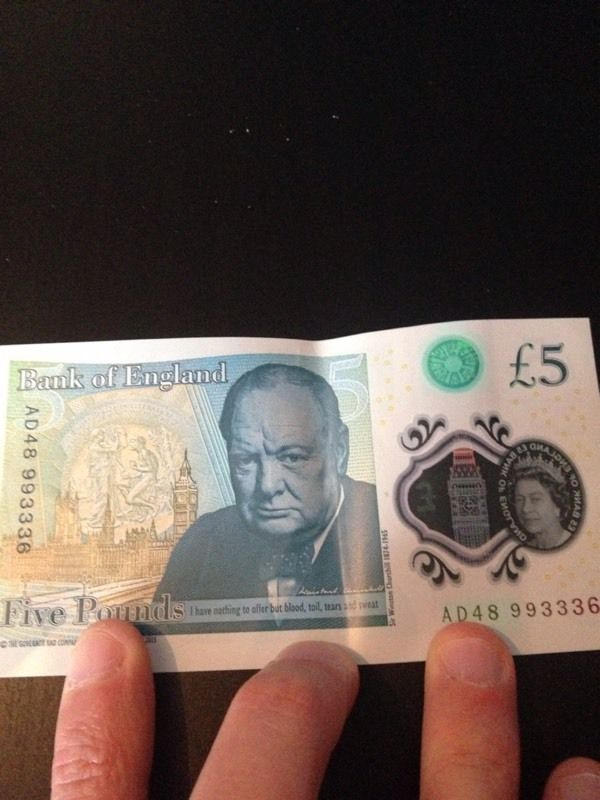 New Bank of England fiver note