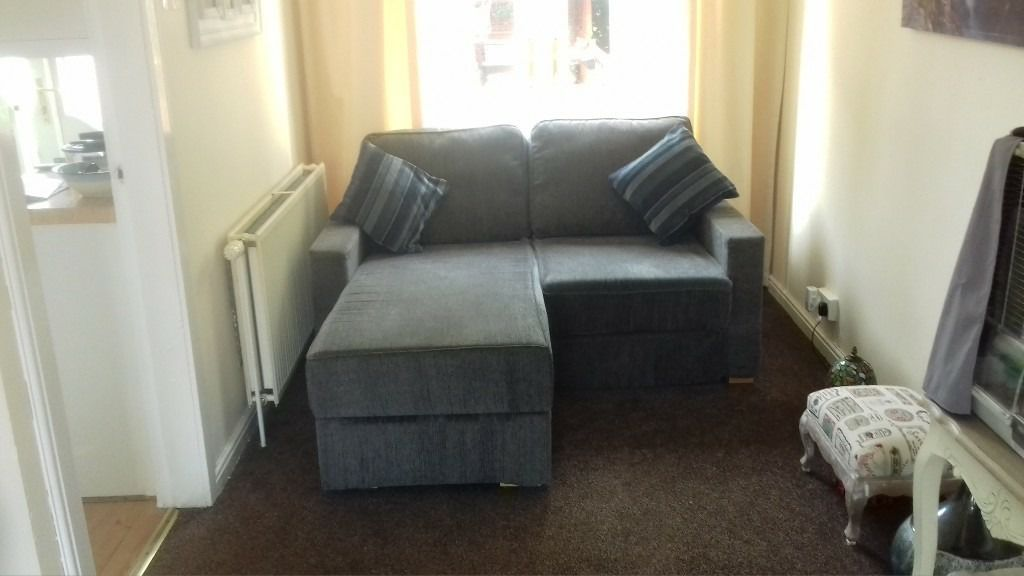 2 seater chaise and fridge