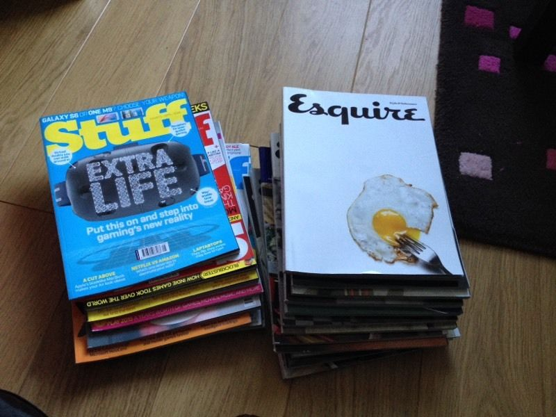 Old STUFF and ESQUIRE Men magazines