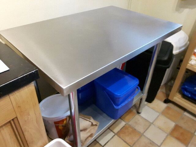 hobart mixer and lincat double ring electric boiler for sale 2 stainless steel tables