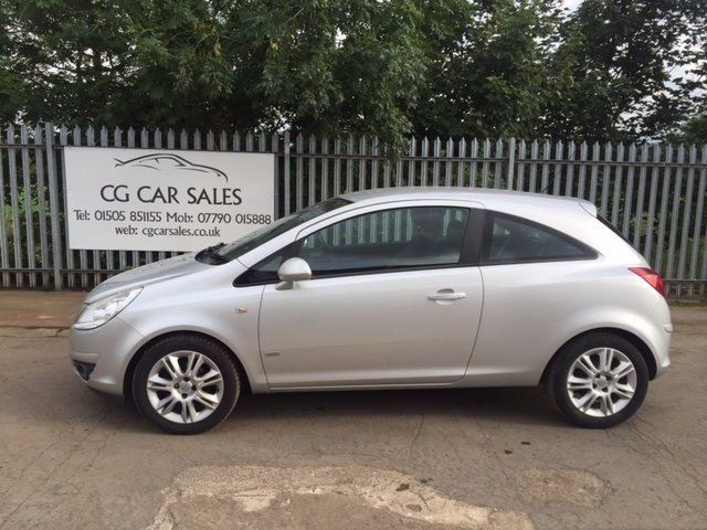 008 Vauxhall Corsa Design 1.4 3dr with Half Leather. MOT to July 2017