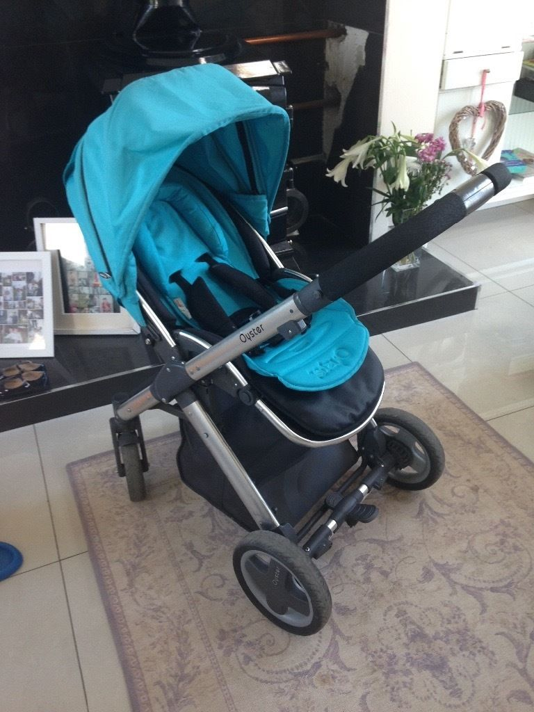 """Babystyle Oyster """"Ocean"""" Blue Buggy And pram"""