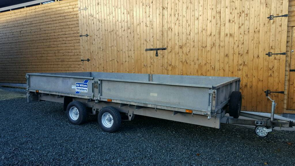 Ifor williams 14'x6.6' dropside trailer with ramps
