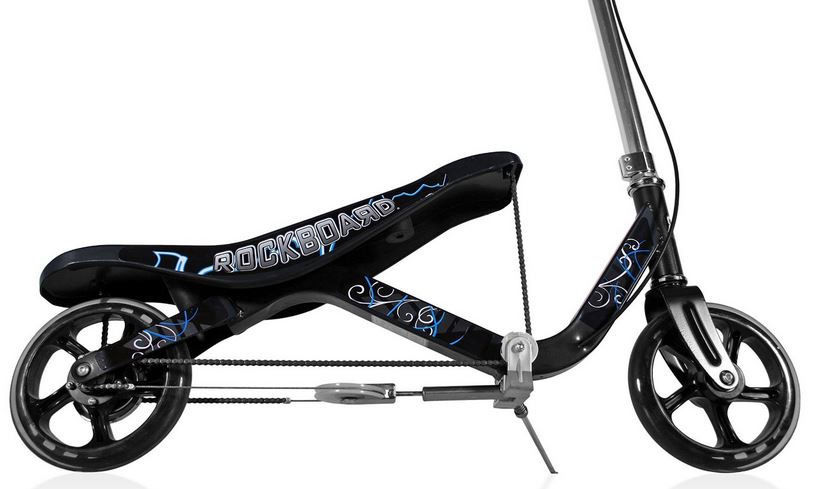 Rockboard RBX Scooter that Rocks - black - brand new - including safety pads