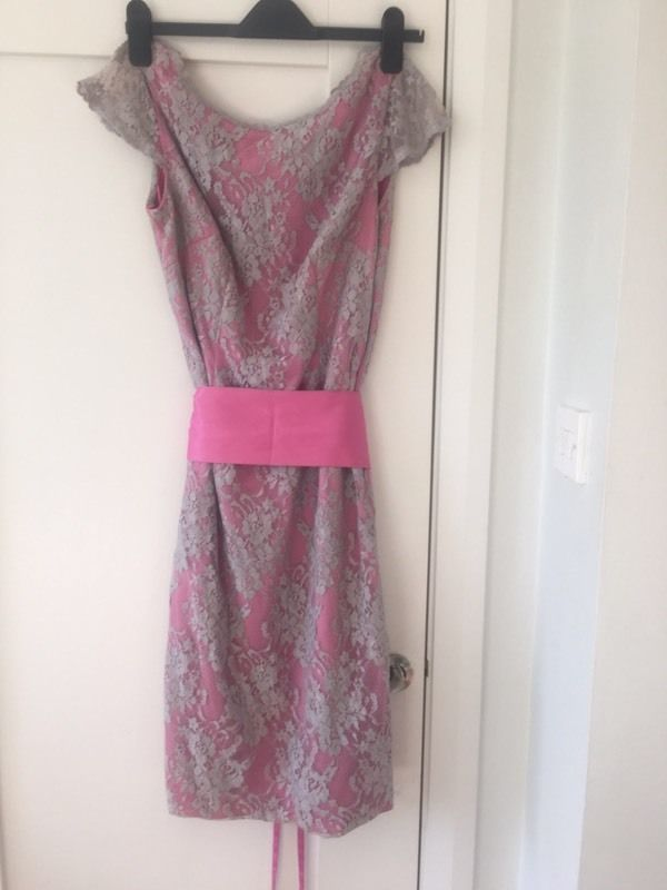 Silver and pink dress size 8