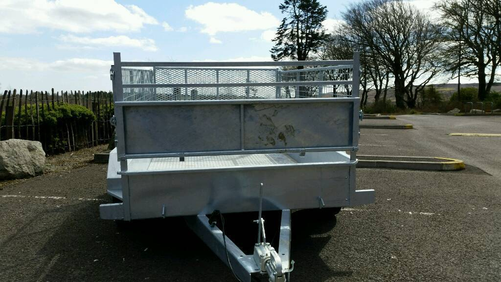 8 X 5 twin axle trailer stamped mesh sides removable Cookstown