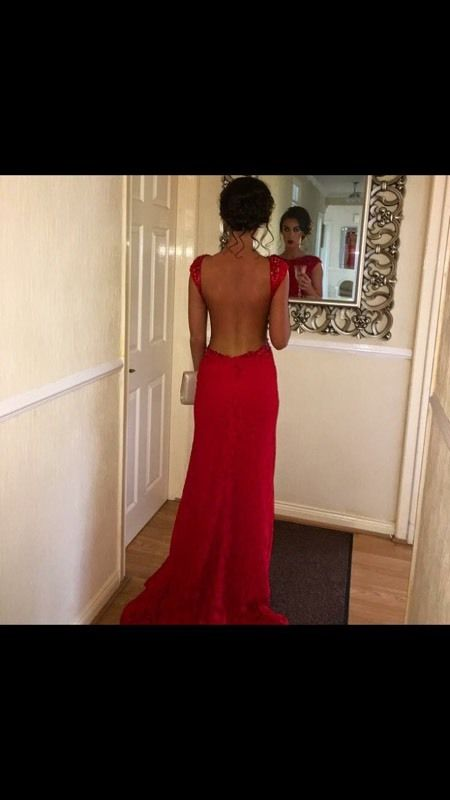 Posh frocks red formal dress size 6 dry cleaned to brand new