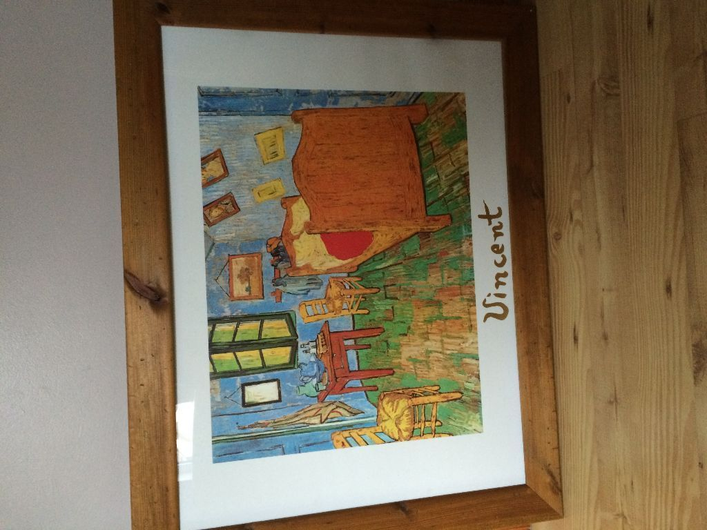 Large Van Gogh print with pine frame - Excellent Condition