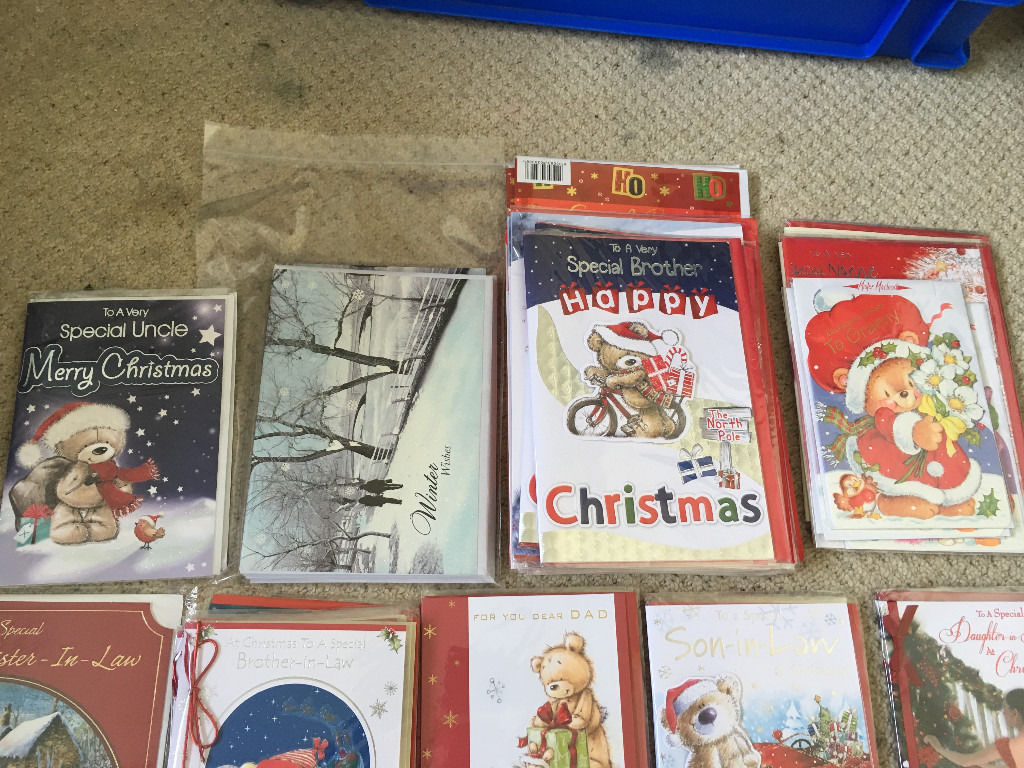 Job Lot of over 90 Christmas Cards (individual sealed)