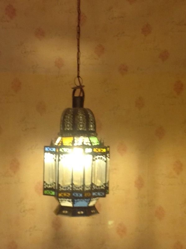 Lovely Middle Eastern stained glass lampshade