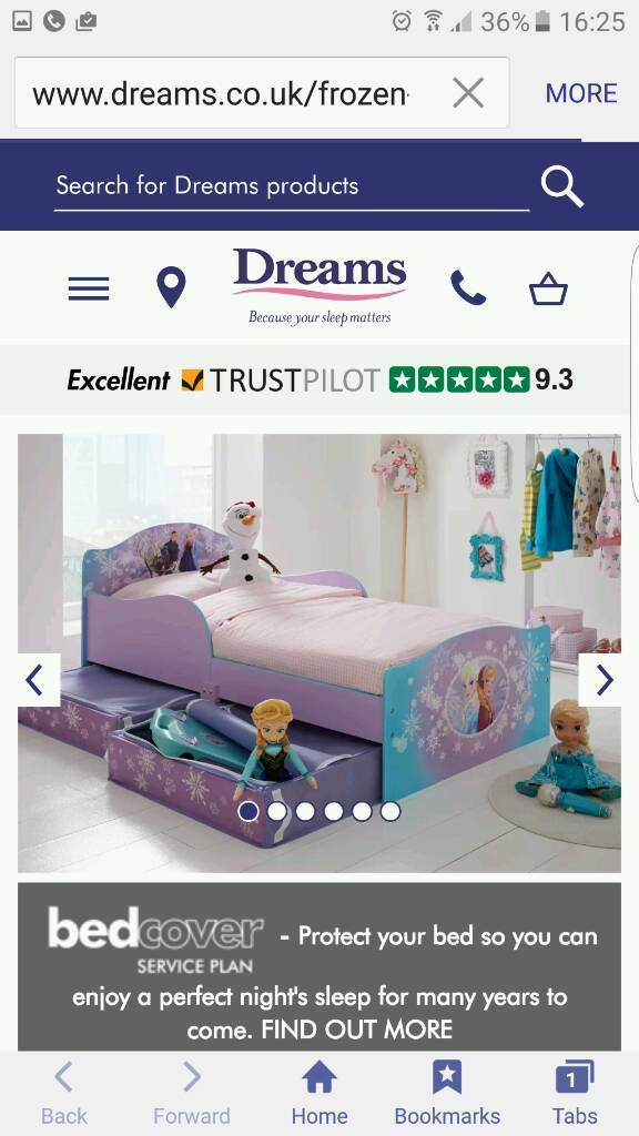 Brand new hello home wood frozen toddler bed