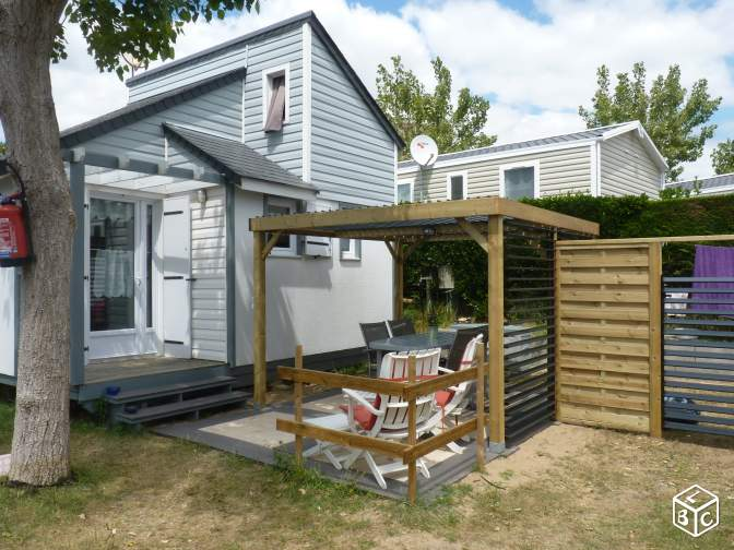 Chalet mobilhome 4e bord mer 6 couchages