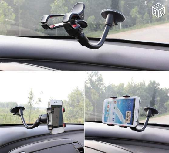 Support Voiture ventouse 360° TELEPHONE & GPS