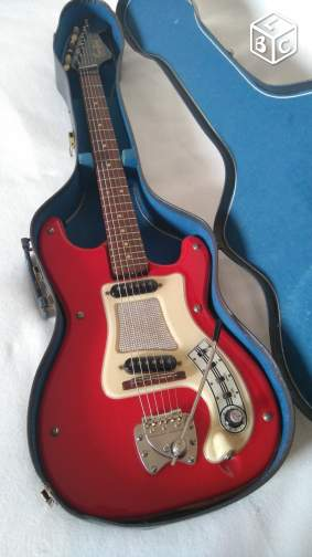 Hagstrom 1, guitare vintage, rouge, Made in Sweden