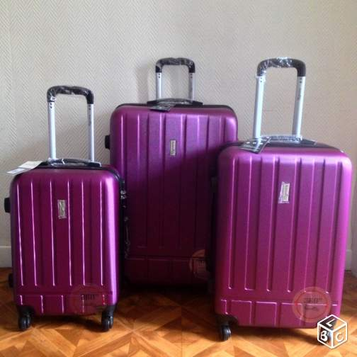 "Set de 3 valises Neuves ""ANTONELLE"" en ABS/TSA"
