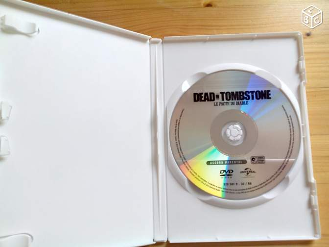 DVD dead in tombstone