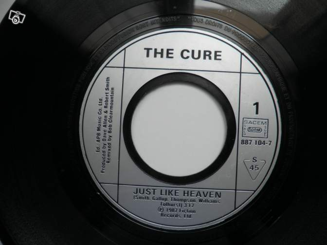THE CURE Just like heaven 45 tours