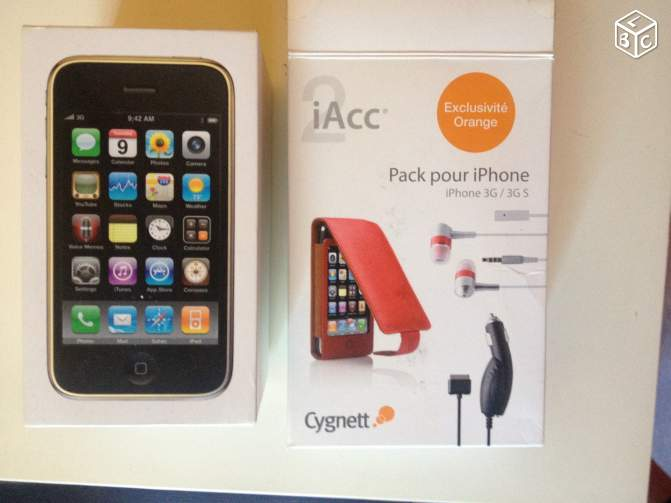 Iphone 3G s (coque rose offerte + protections)