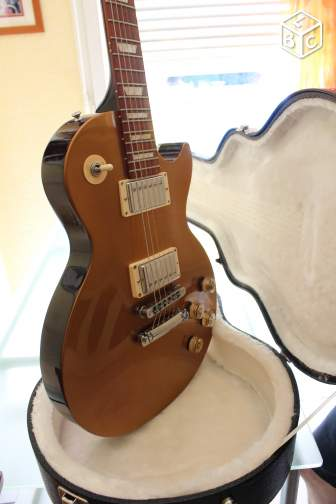 Gibson les paul gold top dark back
