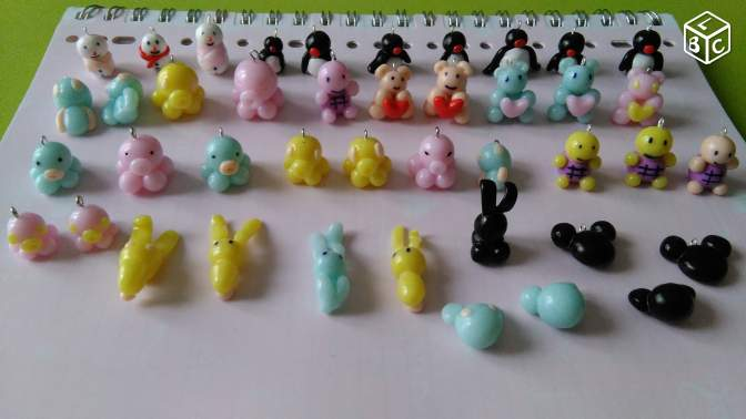 Personnages Kawai Fimo