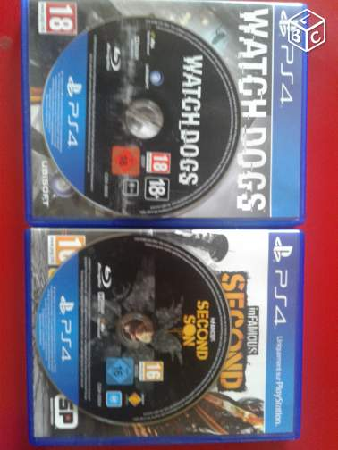 Watch dogs + infamous second son (ps4)