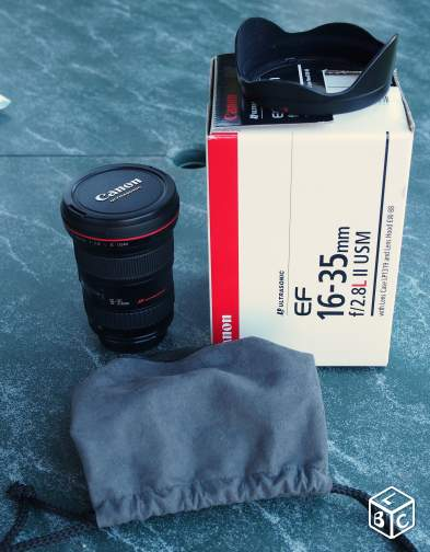 Objectif canon 16-35 f2.8l II is usm -comme neuf